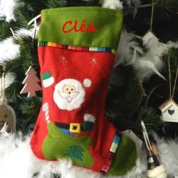Botte de Noël - père noël dans le sac